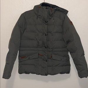 Down duck feather Columbia winter coat never worn!